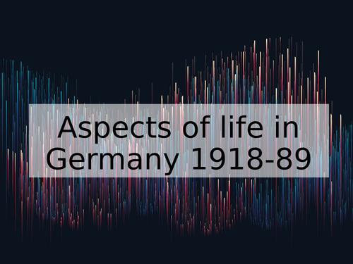 3 Lessons: Women in Germany 1918-89 (Edexcel)
