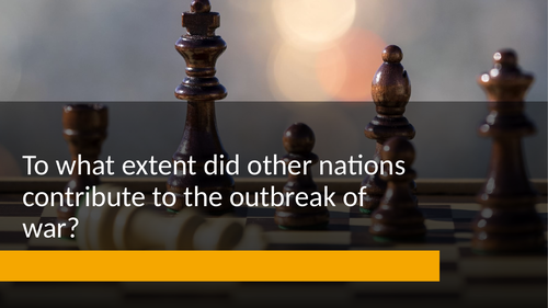 Nazi policy: To what extent did other nations contribute to the outbreak of war? (Edexcel)
