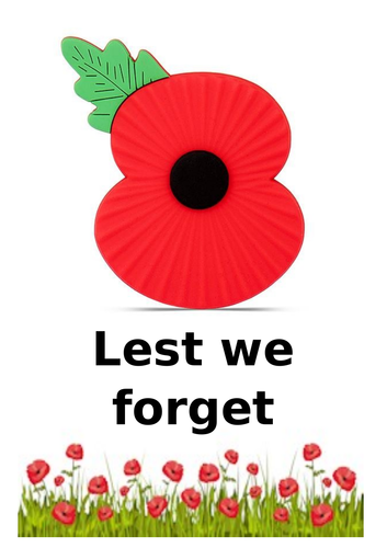 Poppy poster for remembrance day