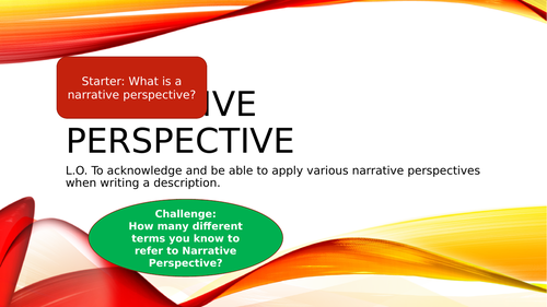 Narrative Perspective - POV