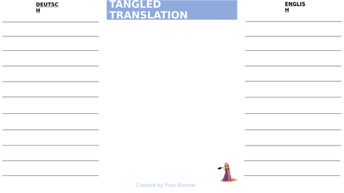 Template for tangled translation + examples