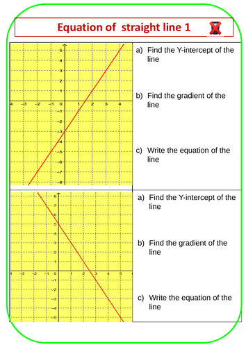 Finding Equation of Straight line 1