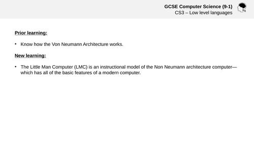 Little Man Computer - GCSE/A-Level