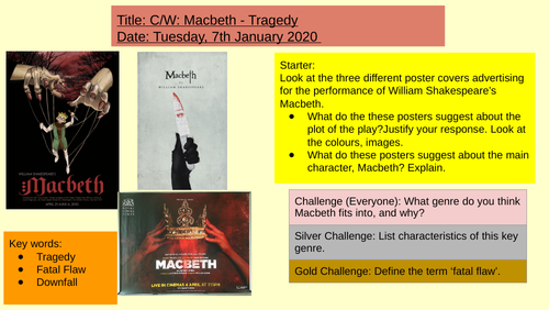 Ks3 Macbeth - Lesson 1