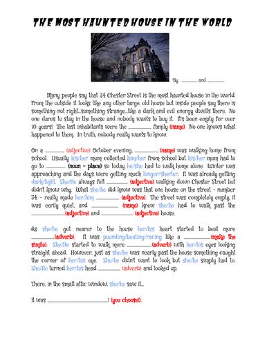 Halloween Haunted House ad-lib writing challenge!