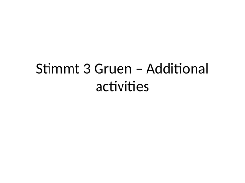 resources to support unit 2 of stimmt 3 green