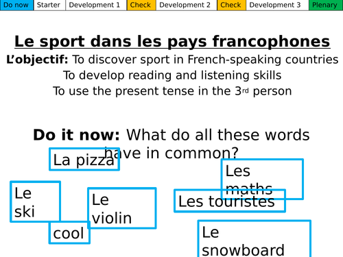 Le sport dans les pays francophones Dynamo 1 Mod 3.3