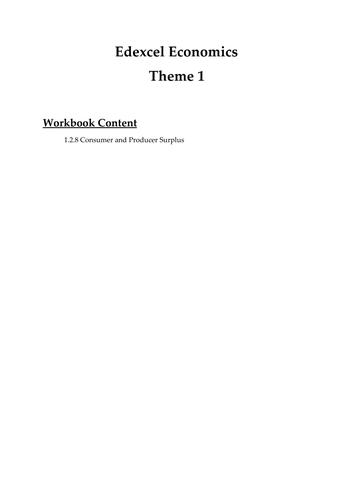 Edexcel Economics Theme 1: 1.2.8 Consumer and Producer Surplus