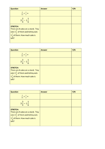 Adding/Subtracting Fractions Lesson