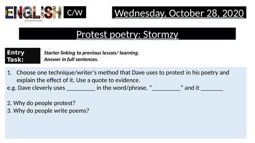 Stormzy- Protest Poetry, Brit Awards rap, Grenfell, Black Lives Matter