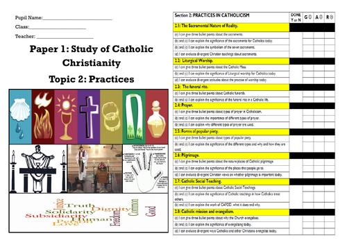 GCSE RE EDEXCEL CATHOLICISM PRACTICES COVID PROOF BOOKLET
