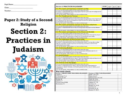GCSE RE EDEXCEL JUDAISM PRACTICES