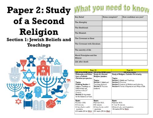 GCSE RE EDEXCEL JUDAISM BELIEFS AND TEACHINGS COVID PROOF WORKBOOKLET