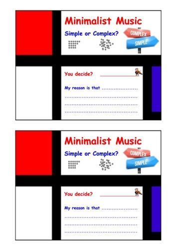 Minimalist Music - Exit Cards