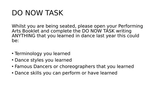 Covid Dance SOW for classroom KS3.