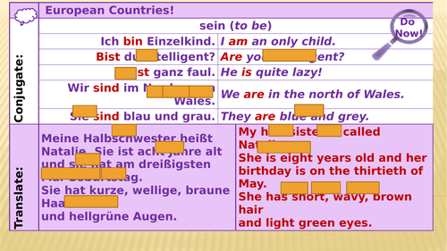 Y7 German Lesson 22 - Height and Size