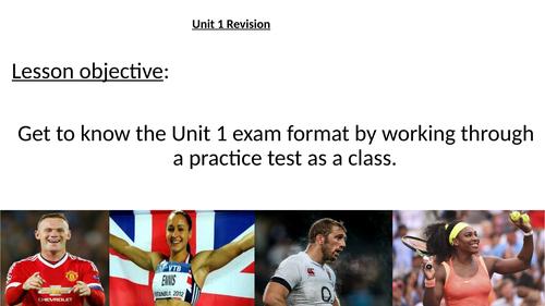 BTEC Sport Unit 1 online exam, 3 lesson revision bundle