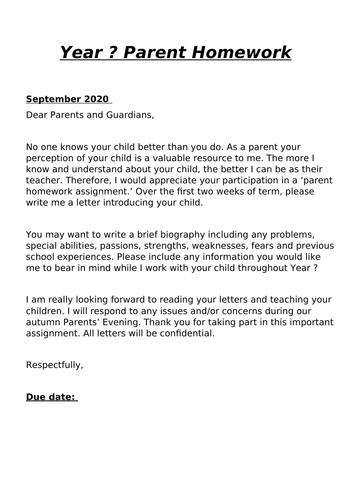 Parent Homework