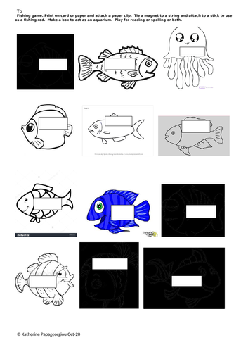 Fishing game template