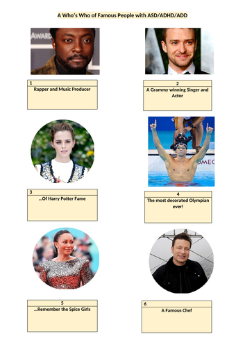 Famous People with ADHD - A Fun Quiz