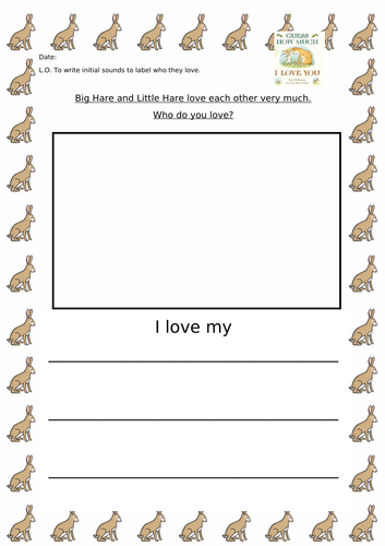Guess How Much I Love You Literacy Activity
