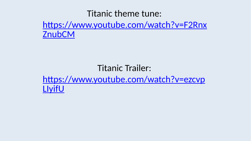 Titanic Lesson 1