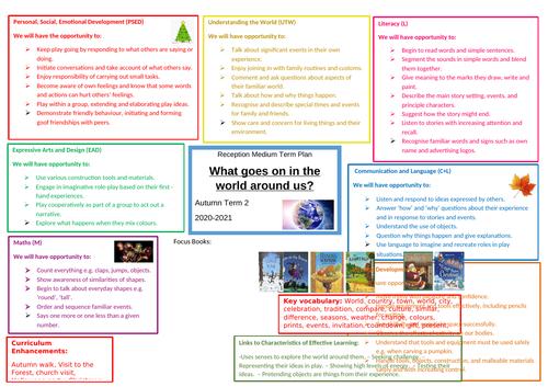 Reception Autumn 2 - Medium Term Plan - 'What goes on in the world around us?'