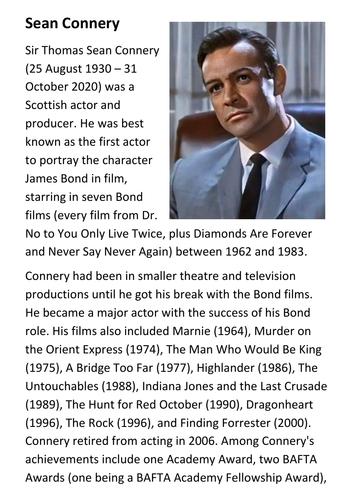Sean Connery Handout
