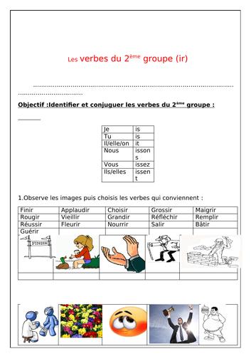 Les Verbes Du 2eme Groupe Teaching Resources