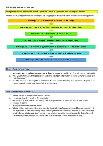 L3 BTEC Business (2016 Spec) Unit 6 Guide Sheets