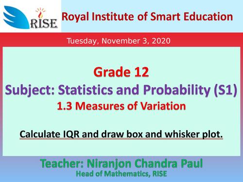 Lesson Slides on Statistics