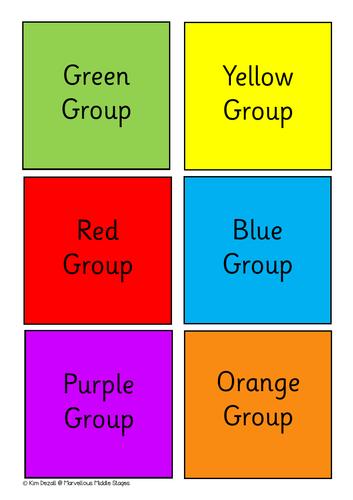 Colour Group Labels