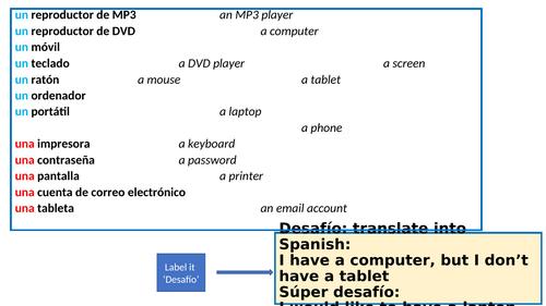 Lesson 1 Usas los aparatos tecnológicos? 2 SB Direct object pronoun Lo/La uso La/Lo encuentro