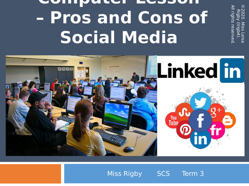 Social and Community Studies - Science and Technology (eSafety) unit - Pros and Cons of Social Media