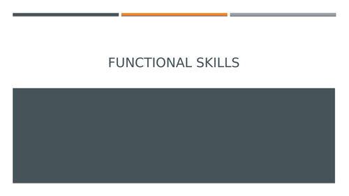 Functional Skills: Career