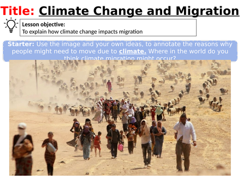 World Issues - Climate refugees and migration