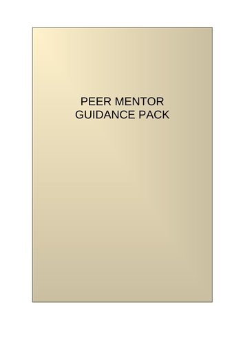 Becoming a Peer Mentor - Peer Mentor Pack for Students