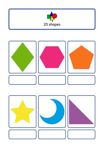Shape bundle, simple velcro tasks / worksheet, ASD, SEN, KS1