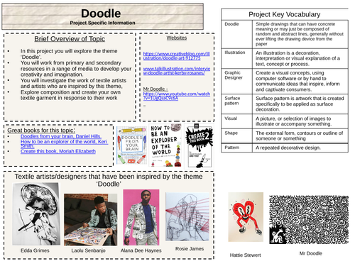 Art Textiles Doodle Project - limited materials needed