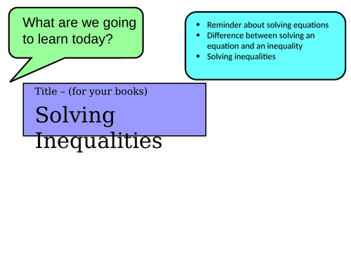 solving inequalities complete lesson