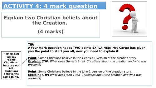 AQA RE Spec A Exam question support sheets