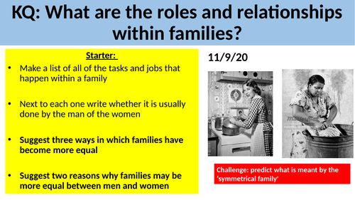GCSE Sociology: Families - L6. Roles and Relationships