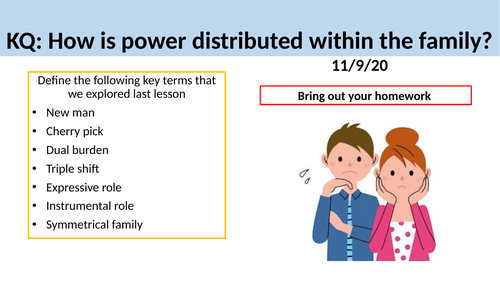 GCSE Sociology: Families - L7. Power and Relationships