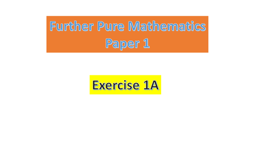 9231_FP1_Chapter 1_Roots of Polynomial equations_Solutions_Complete Package