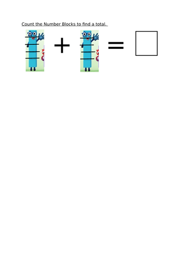 Count two groups with Numberblocks