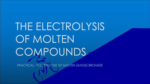 ELECTROLYSIS - IGCSE CHEMISTRY