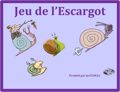 Action de grâce (Thanksgiving in French) Escargot Snail Game