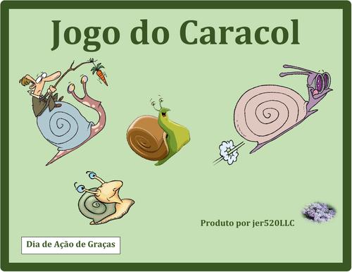 Dia de Ação de Graças (Thanksgiving in Portuguese) Caracol Snail Game