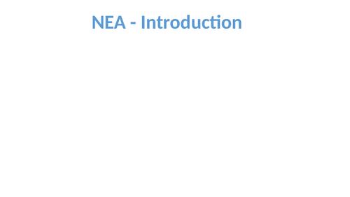 Edexcel A'Level NEA Step-by-step guide to NEA