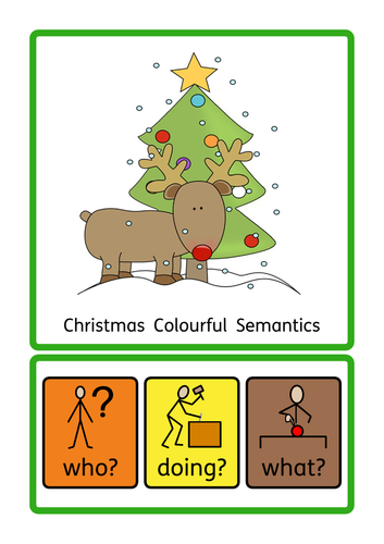 Christmas Interactive Book, ASD, S&L, SEN, KS1, Colourful Semantics